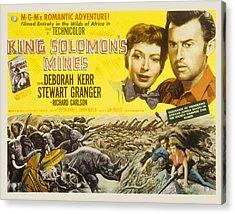 King Solomons Mines, Deborah Kerr Acrylic Print by Everett