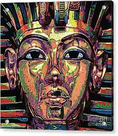 King Tutankhamun Death Mask Acrylic Print by Maria Arango