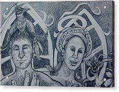 Bird And Metamorphosis Acrylic Print by Susan Brown    Slizys art signature name