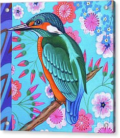 Kingfisher Acrylic Print by Jane Tattersfield