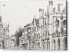 Kings College Cambridge Acrylic Print by Vincent Alexander Booth