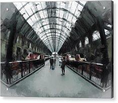 Kings Cross London Acrylic Print by Gillian Dernie