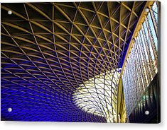 Acrylic Print featuring the photograph Kings Cross Railway Station Roof by Matthias Hauser