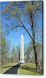 Kings Mountain National Military Park Monument Acrylic Print by Bruce Gourley