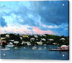 Acrylic Print featuring the photograph King's Wharf Bermuda Harbor Sunrise by Susan Savad