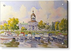 Kingston City Hall And Harbour Acrylic Print