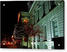 Kingston City Hall In Lights Acrylic Print by Paul Wash
