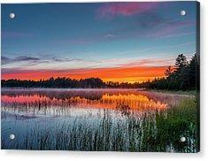 Kingston Lake Sunset Acrylic Print