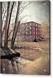 Kingston Mill Across The River Acrylic Print by Colleen Kammerer