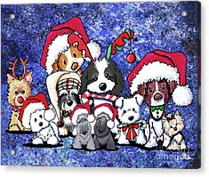 Kiniart Christmas Party Acrylic Print by Kim Niles