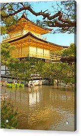 Kinkakuji Golden Pavilion Kyoto Acrylic Print by Sebastian Musial