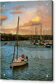 Acrylic Print featuring the painting Kinsale Harbour Evening by Jeff Kolker
