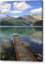 Kintla Lake Dock Acrylic Print by Marty Koch