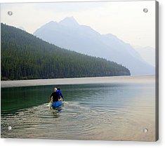 Kintla Lake Paddlers Acrylic Print