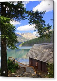 Kintla Lake Ranger Station Glacier National Park Acrylic Print by Marty Koch