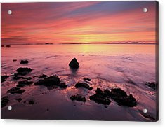 Acrylic Print featuring the photograph Kintyre Rocky Sunset by Grant Glendinning