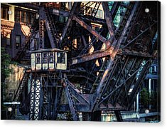 Kinzie Rail Bridge Detail Acrylic Print