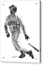 Kirby Puckett Acrylic Print by Harry West