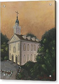 Kirtland Temple Acrylic Print by Jeff Brimley