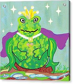 Kiss A Frog Acrylic Print by Eloise Schneider