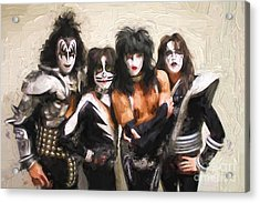 Kiss Band Acrylic Print by Steven Parker