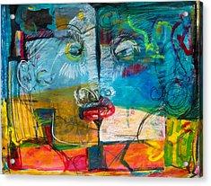 Kiss Acrylic Print by Diana Blackwell