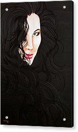 Kiss Me Acrylic Print by Juan Alcantara