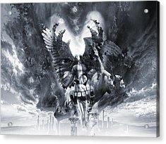 Kiss Of Eros Or Angels And Demons Acrylic Print by George Grie