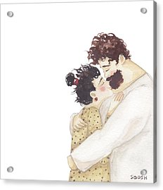 Kiss On A Nose Acrylic Print