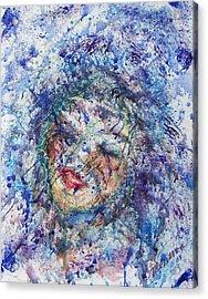 Kiss The Rain Acrylic Print by Cathy Minerva