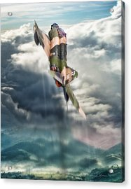 Kiss The Sky Acrylic Print by Peter Chilelli