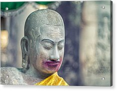 Kissing Buddha Angkor Wat  Acrylic Print by Stelios Kleanthous