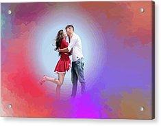 Kissing Couple Acrylic Print