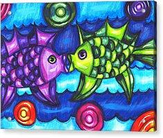 Kissing Fish Acrylic Print