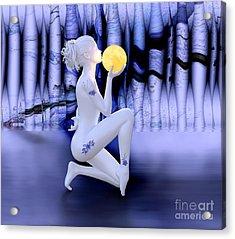Kissing The Moon Acrylic Print