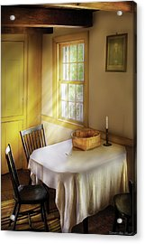 Kitchen - The Empty Basket Acrylic Print by Mike Savad