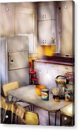 Kitchen - A 1960's Kitchen  Acrylic Print by Mike Savad