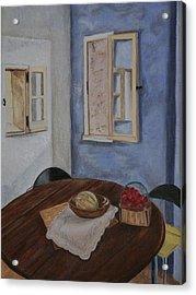 Kitchen In Les Baux Acrylic Print by Cynthia Ablicki