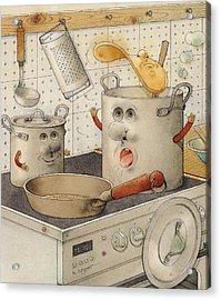 Kitchen Acrylic Print by Kestutis Kasparavicius