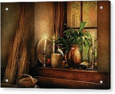 Kitchen - One Fine Evening Acrylic Print by Mike Savad