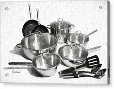 Kitchen Pots And Pans Acrylic Print by Garland Johnson