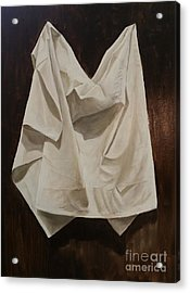 Acrylic Print featuring the painting Painting Alla Rembrandt - Minimalist Still Life Study by Rosario Piazza