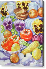 Acrylic Print featuring the painting Kitchen Symphony by Inese Poga