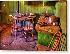 Kitchen Table Bodie California Acrylic Print