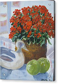Acrylic Print featuring the painting Kitchen Table by Julie Todd-Cundiff