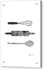 Kitchen Utensils Set Kitchen Decor Acrylic Print by Joanna Szmerdt