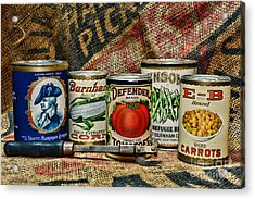 Kitchen - Vintage Food Cans Acrylic Print