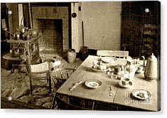 Acrylic Print featuring the photograph Kitchen Work Area by Pete Hellmann