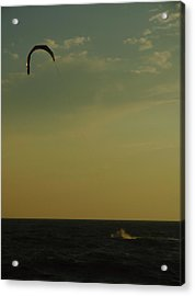 Kite Surfer Acrylic Print by Juergen Roth