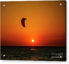 Kite Surfing Acrylic Print by Jelena Jovanovic